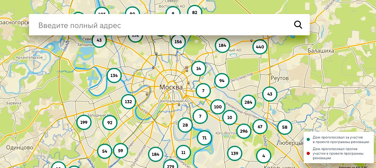 Интерактивная карта голосования