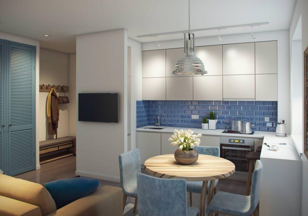 кухонная зона в квартире-студии_2