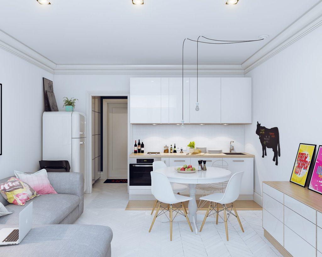 кухонная зона в квартире-студии_3