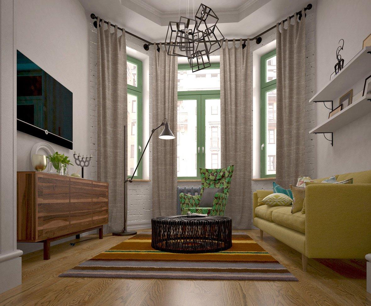ночной смены, дизайн комнаты с эркером фото перемешать пакете солью